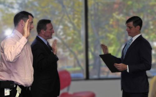 Paul Hoover IV Swearing In new President Jay Baas and President Elect Dennis Carroll