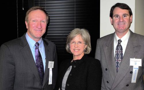 Jay Baas and Dave Braswell with speaker Rosemary Kenyon