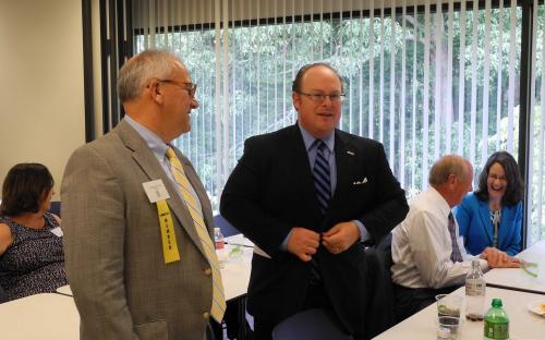Eastern NC CPCU Society Chapter Meeting Wayne Goodwin Socializing