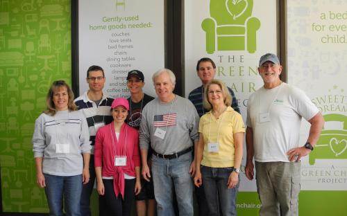 Volunteers for Good Works at the Green Chair Project, April 1, 2017