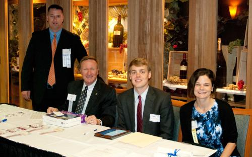 Registration Table, Dennis Carroll, Jay Baas, Thomas Rhodes, Tricia Munsey